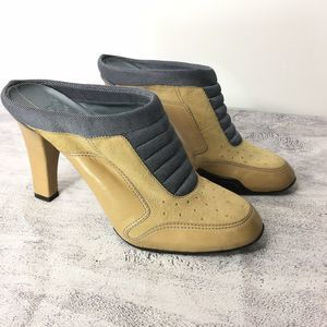 Cole Haan G Series Heeled Mules Clogs Size 8B